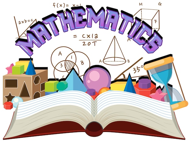 Doodle mathematische formel mit mathematik-schriftart