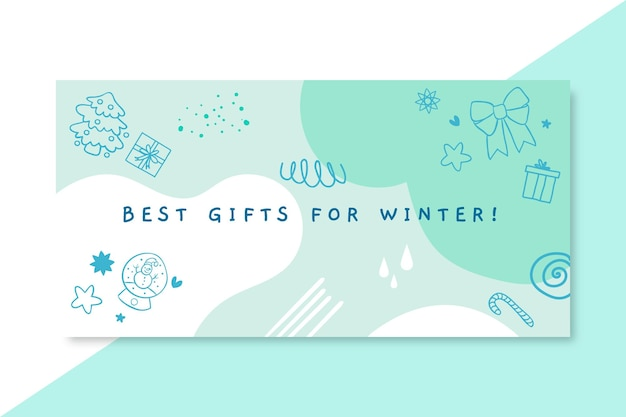 Doodle monocolor winter blog header