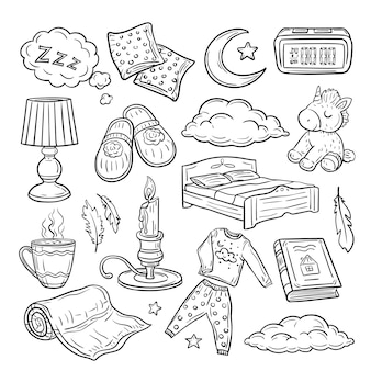 Doodle-set vor dem schlafengehen