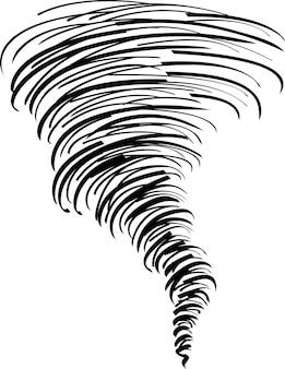Doodle tornado illustration vektor isoliert auf weiss
