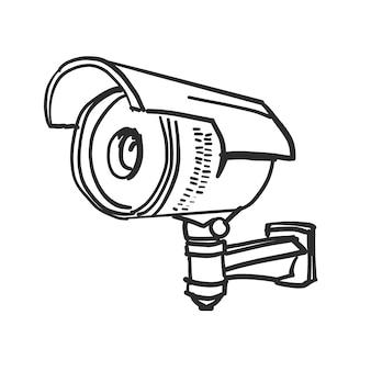 Doodle überwachungskamera vektor