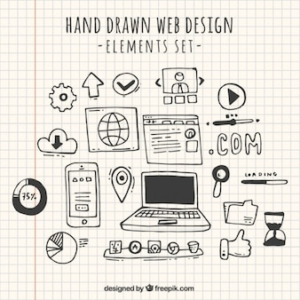 Doodles web-design-element sammlung