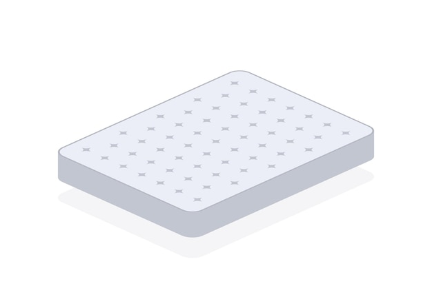 Doppelbett. komfortable doppelmatratze zum schlafen, tolles design für jeden zweck. schlafkonzept. matratze-symbol. vektorgrafik auf lager.