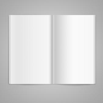 Doppelseite eines magazins mit leeren seiten