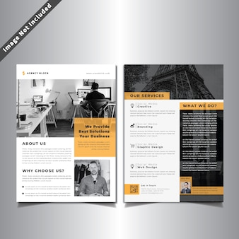 Doppelseiten business flyer
