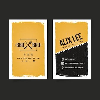 Doppelseitige bbq-visitenkarte
