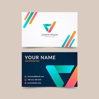 Doppelseitige horizontale visitenkarte