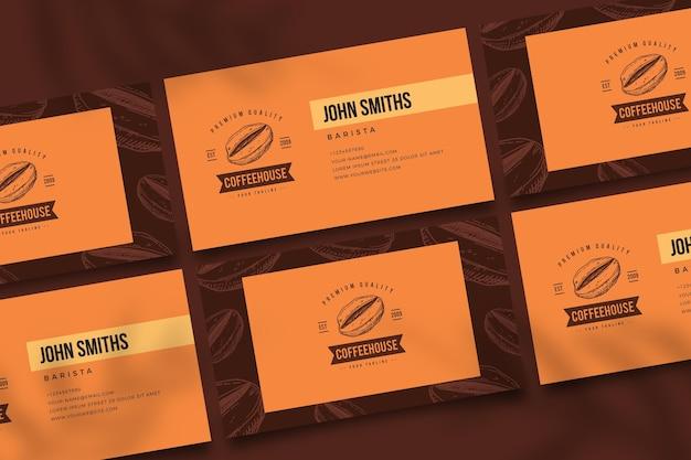 Doppelseitige kaffee-visitenkarte v