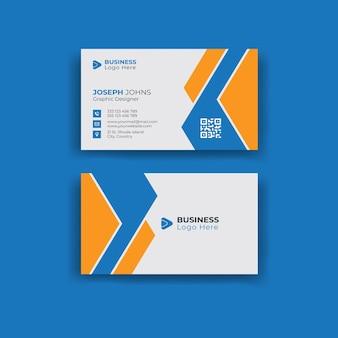Doppelseitige kreative visitenkartenvorlage hoch- und querformat