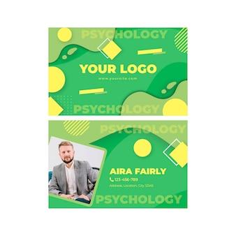 Doppelseitige visitenkarte der psychologie
