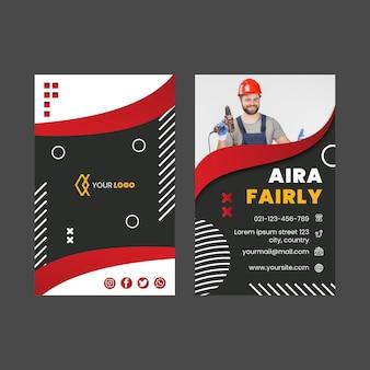 Doppelseitige visitenkarte des elektrikers