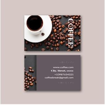 Doppelseitige visitenkarte des kaffees
