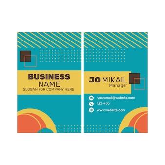 Doppelseitige visitenkarte des marketinggeschäfts