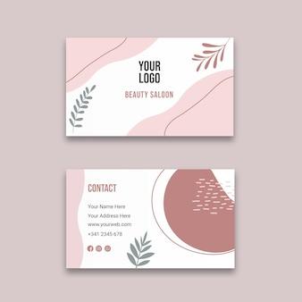 Doppelseitige visitenkarte des schönheitssalons h