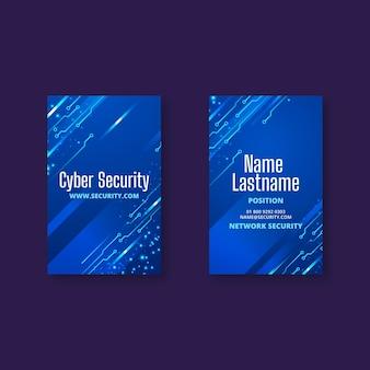 Doppelseitige visitenkarte für cybersicherheit