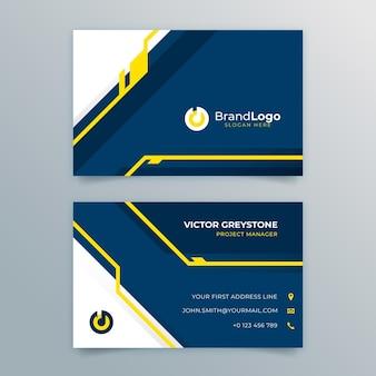 Doppelseitige visitenkarte für das marketinggeschäft