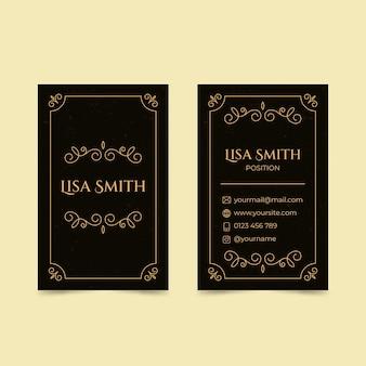 Doppelseitige visitenkarte mit flachem design