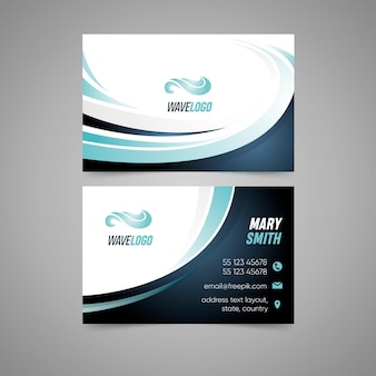 Doppelseitige visitenkarte mit sportdesign