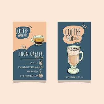 Doppelseitige visitenkarte Premium Vektoren