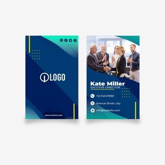 Doppelseitige visitenkartenvorlage für das marketinggeschäft