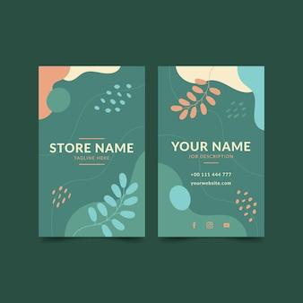 Doppelseitige visitenkartenvorlage