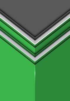 Doppelte weiße linie pfeil auf grünem glattem grauem hintergrund.