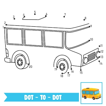 Dot to dot game illustration für kindererziehung