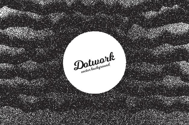Dotwork punktierte textur retro-stil