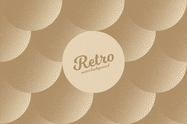 Dotwork retro abstract vector hintergrund