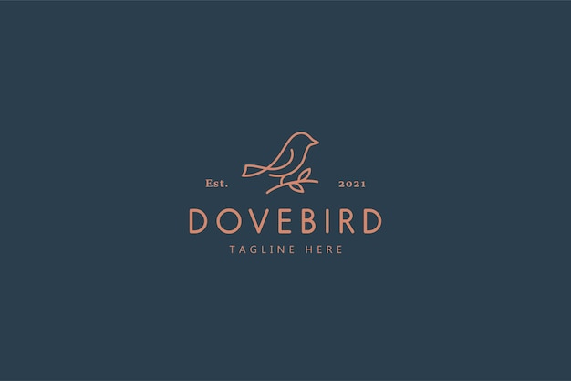 Dove bird nature life illustration logo