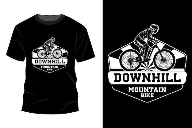 Downhill mountainbike t-shirt mockup design silhouette