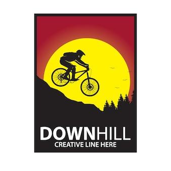 Downill und der sonnenuntergang