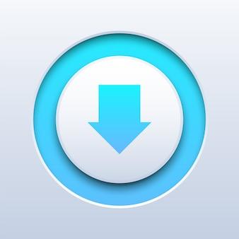 Download-druckknopf auf weiß