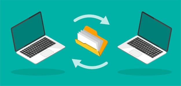 Download-prozess. hochladen von dateien ins internet oder auf den computer. dateiübertragungskonzept.
