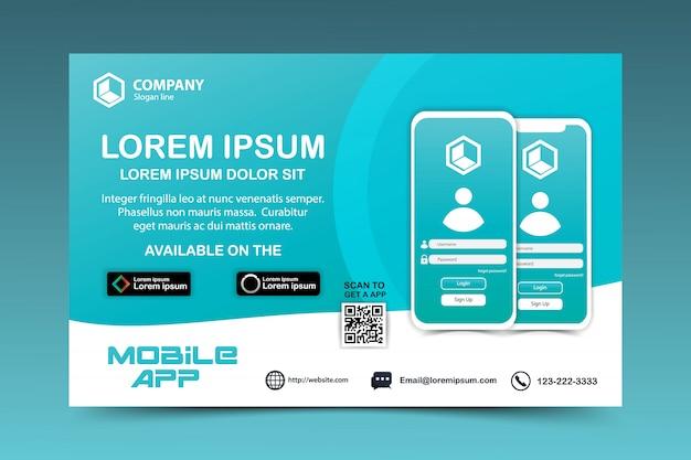 Download-seite des mobilen app-vektors