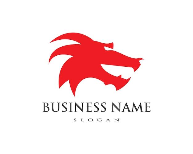Drache flache farbe logo vorlage