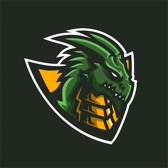 Drachen esports gaming maskottchen logo vorlage