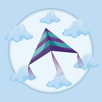 Drachen fliegen in den himmel