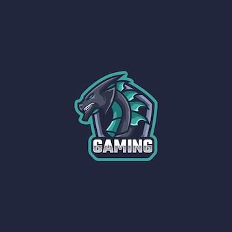 Drachen logo maskottchen