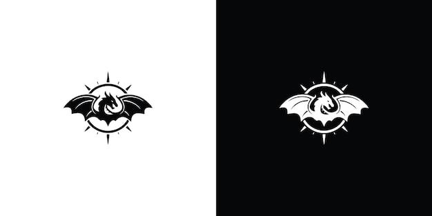 Drachen logo vorlage premium-vektor