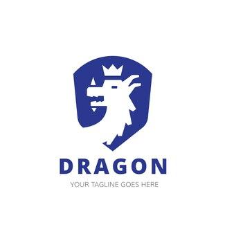 Drachen logo vorlage.