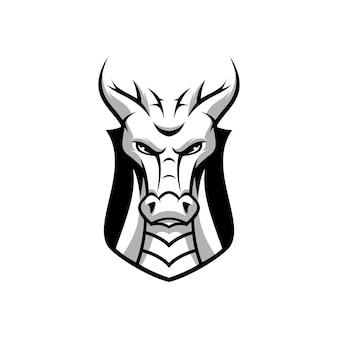 Drachen maskottchen design