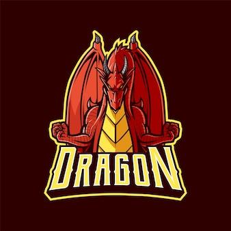 Drachen-maskottchen-logo für den sport