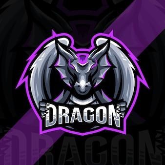 Drachen maskottchen logo vorlage