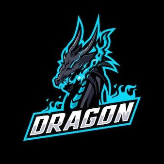 Drachen maskottchen logo
