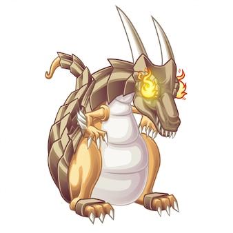 Drachen sind fantasietiere im cartoon-stil.