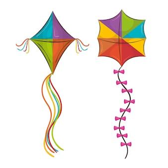 Drachen spielzeug fliegen symbol