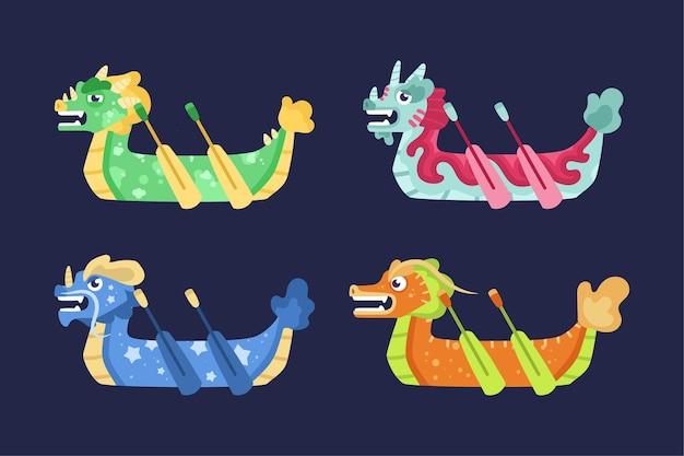 Drachenboot-pack-konzept
