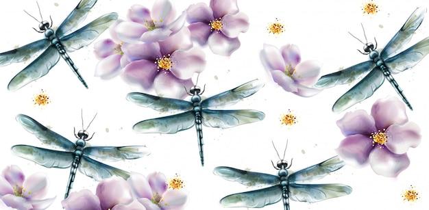 Drachenfliege aquarell