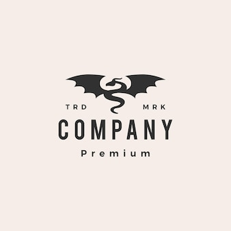Drachenflügel-hipster-vintage-logo